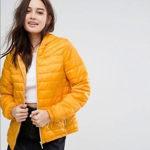 New Look ASOS Lightweight Padded Yellow Jacket